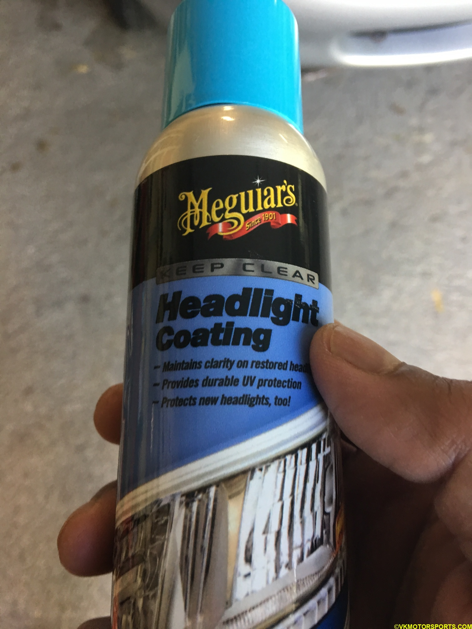 Headlight coating can