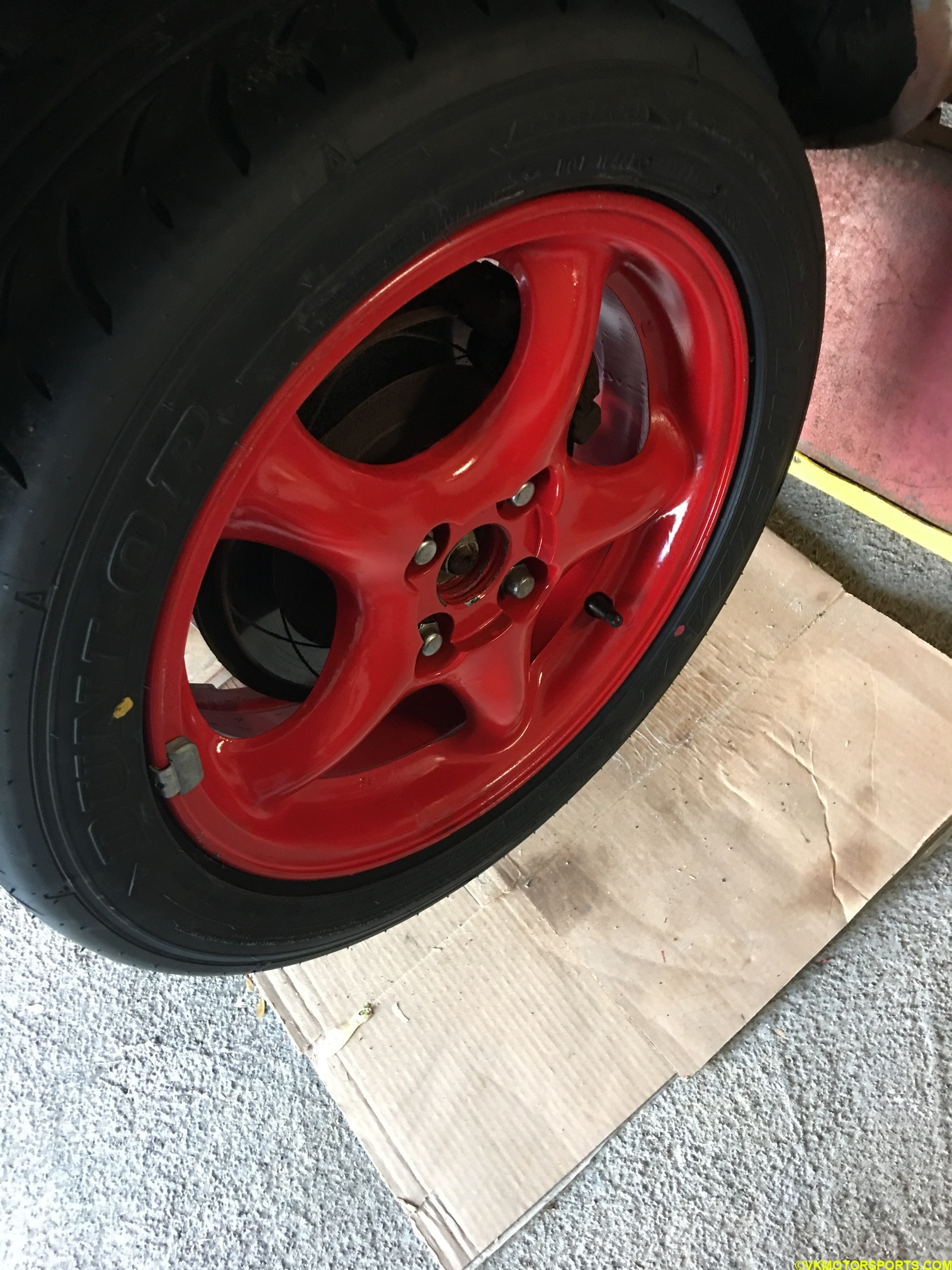 Figure 10. Install replacement wheel and lug nuts